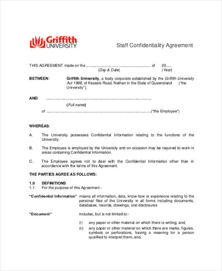 Employee Staff Confidentiality Agreement | Download Free & Premium