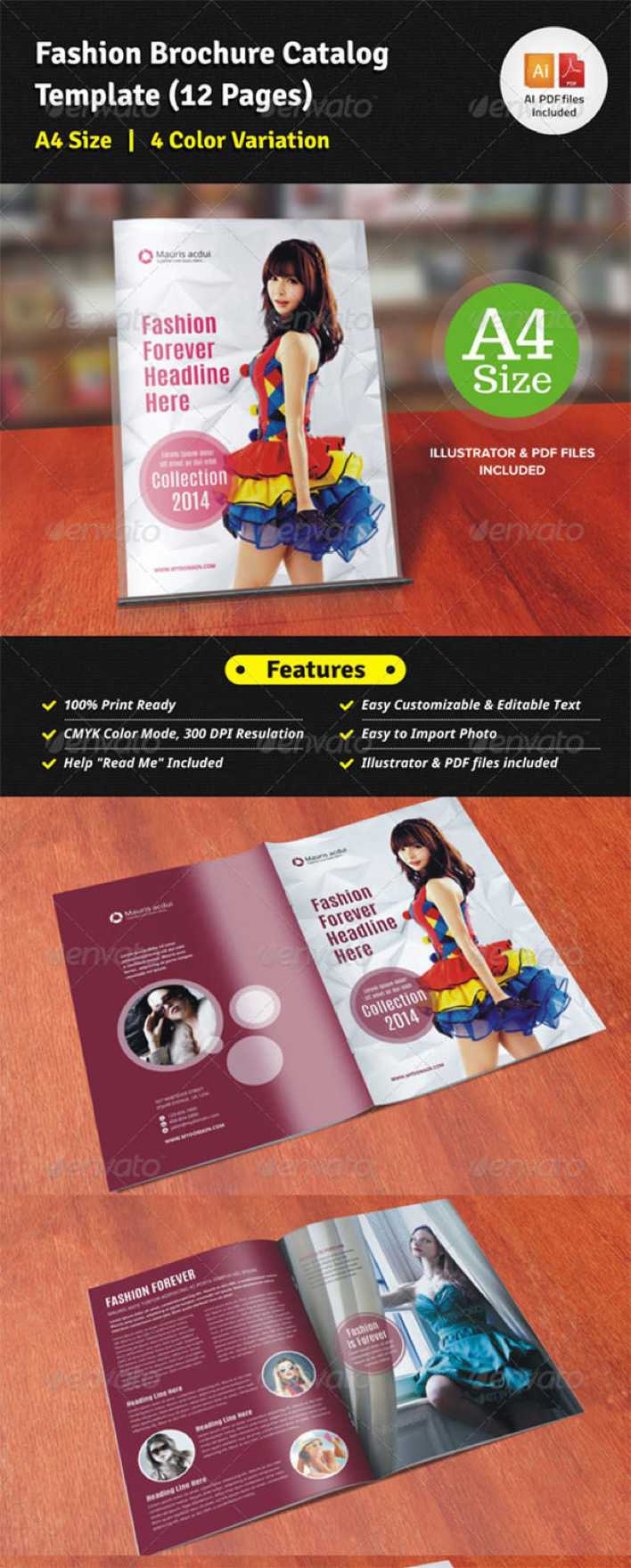 Fashion brochure catalog 12 pages download free for 12 page brochure template
