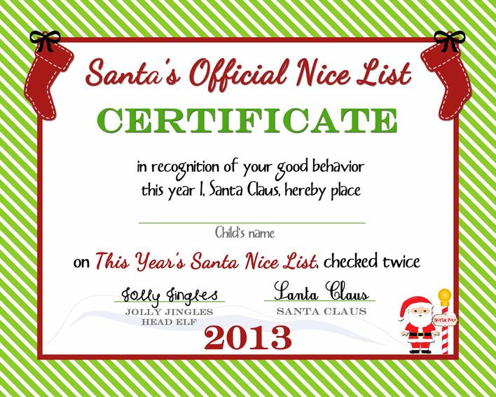 Free Christmas Gift Certificate Template Printable Download Free