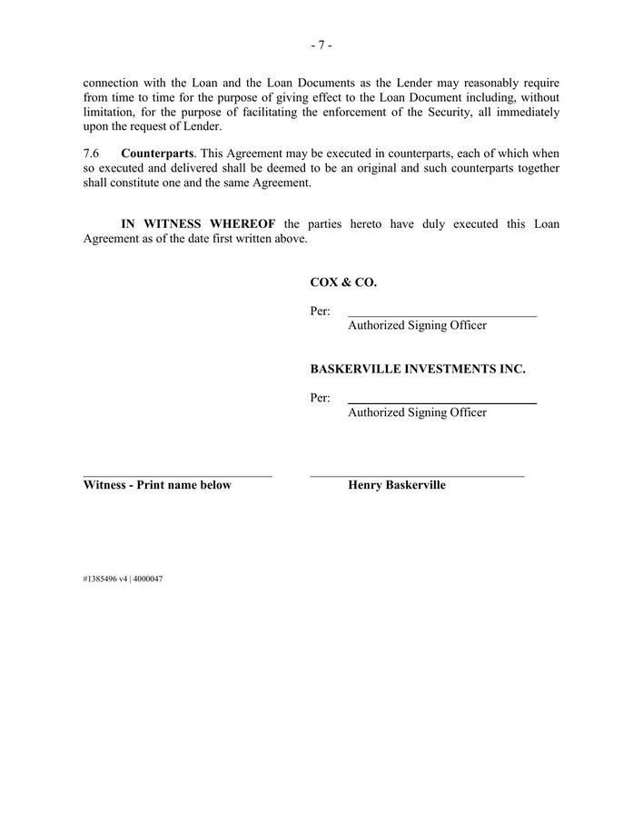Free Download Loan Agreement Template Download Free Premium