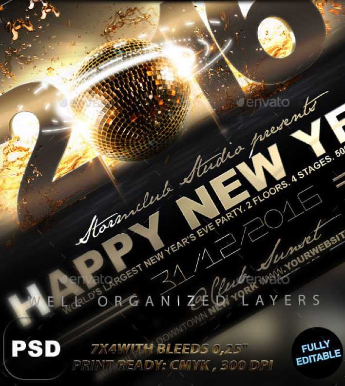 Happy New Year Flyer Template PDS Design | Download Free & Premium ...