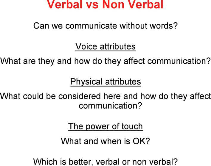 nonverbal communication and the effect Start studying nonverbal communication - exam 1 learn vocabulary, terms, and more with flashcards, games, and other study tools.