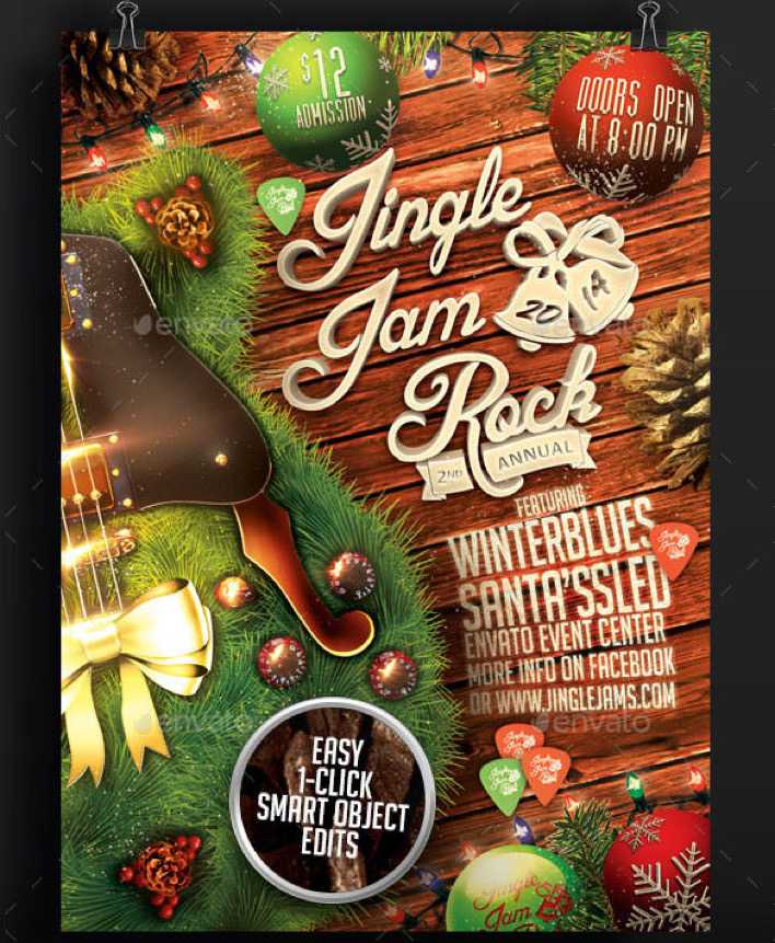 Jingle Jam Rock Christmas Flyer Template Psd Design Download Free