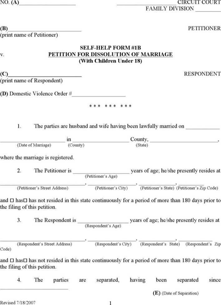 kentucky divorce form download free premium templates forms samples for doc pdf formats. Black Bedroom Furniture Sets. Home Design Ideas