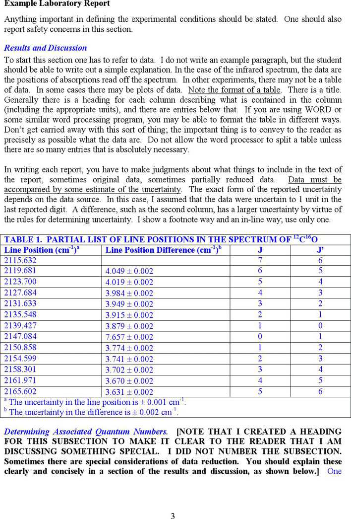 lab report example Laboratory report instructions table of contents: parts of a lab report title page abstract introduction materials and methods results (text) results (figures and table.