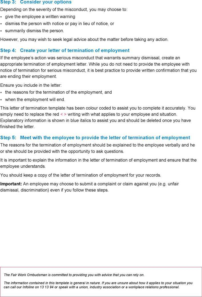 Letter of termination of employment summary dismissal serious letter of termination of employment summary dismissal serious misconduct template page 2 spiritdancerdesigns Choice Image