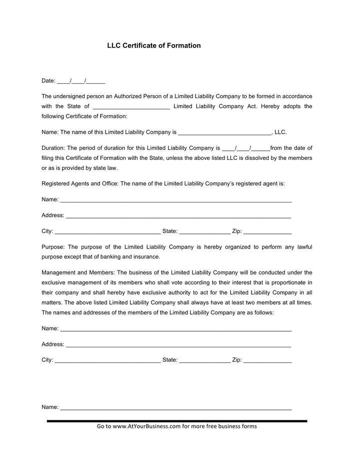 membership form template doc - llc membership certificate template free download