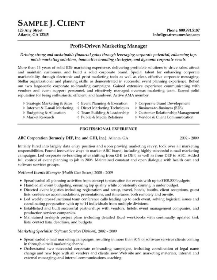Executive Director Resume Entertainment Executive Resume Sample