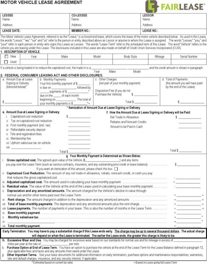 Motor vehicle lease agreement download free premium for Motor vehicle lease agreement
