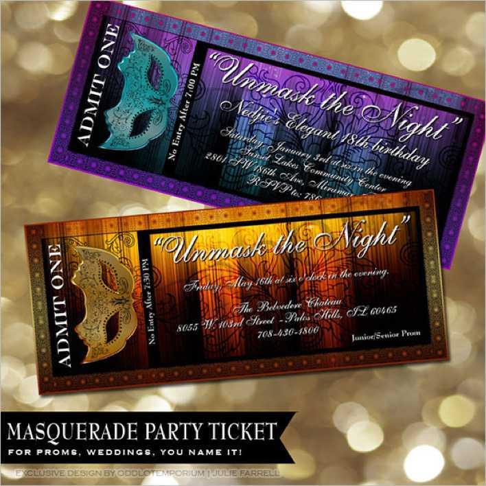 movie prom ticket template download free premium templates