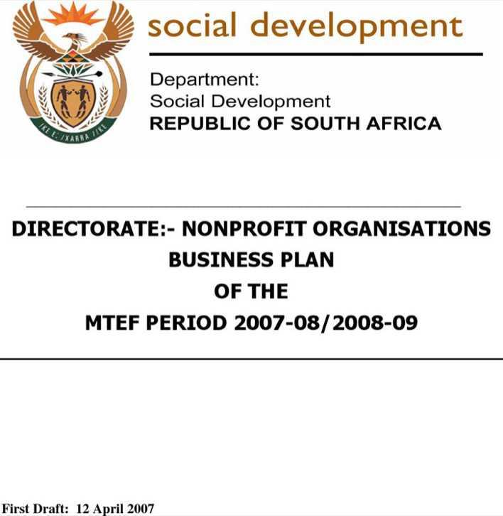Non Profit Organization Business Planning Template Download