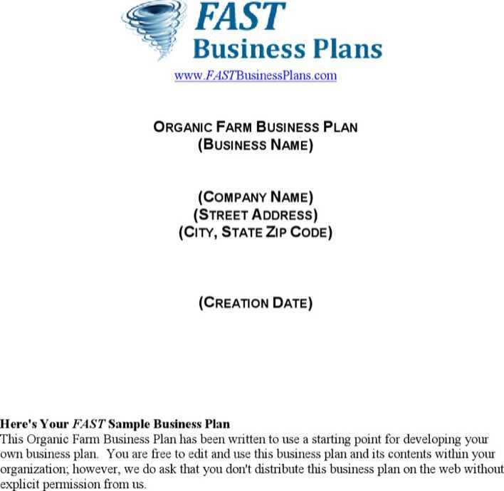 organic farm business plan download free premium templates