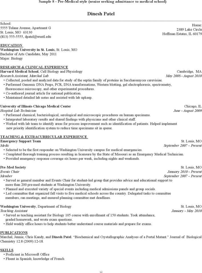 four steps to a winning med school resume huffpost