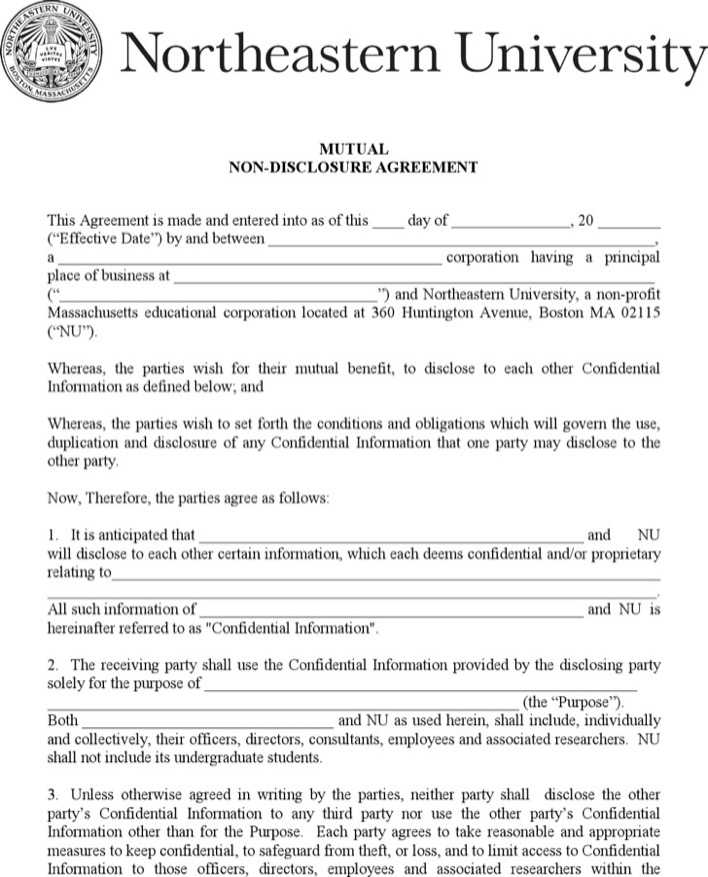 Pdf Template For Counsel Mutual Non Disclosure Agreement Download