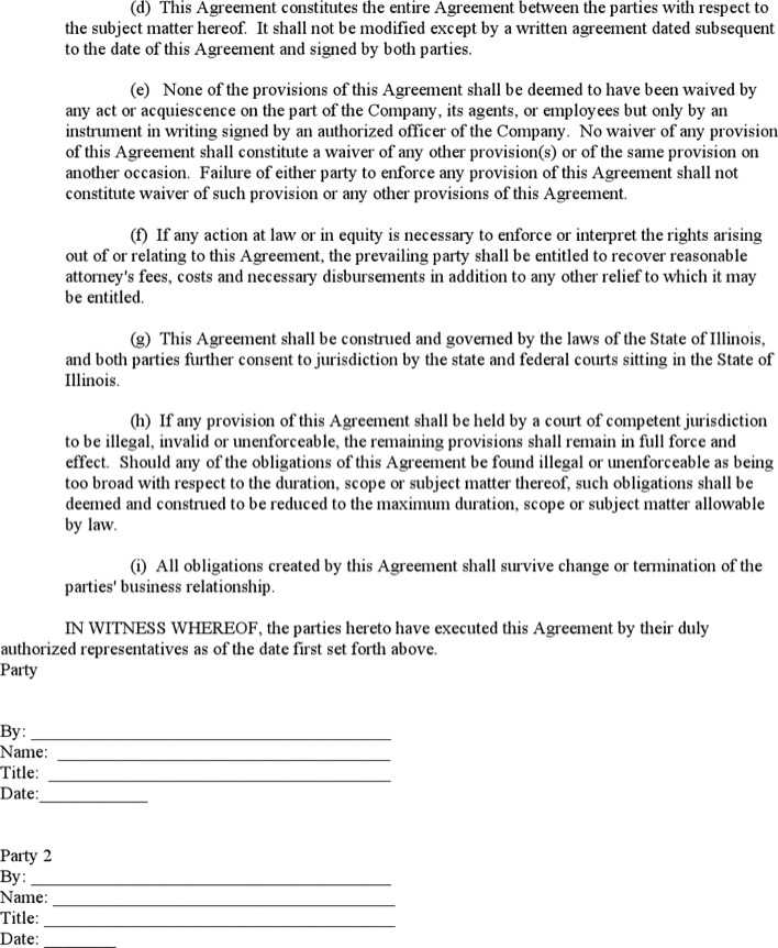Personal Non Disclosure Agreement