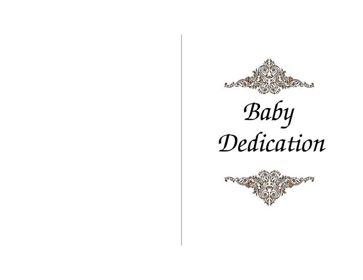 Printable Baby Dedication Certificate Template  Download Free