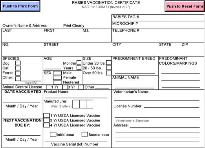 Rabies Vaccination Certificate Template | Download Free & Premium ...