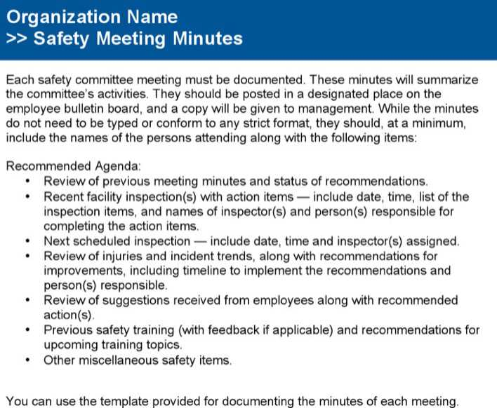 Safety committee meeting notes and agenda example download free safety committee meeting notes and agenda example page 1 maxwellsz