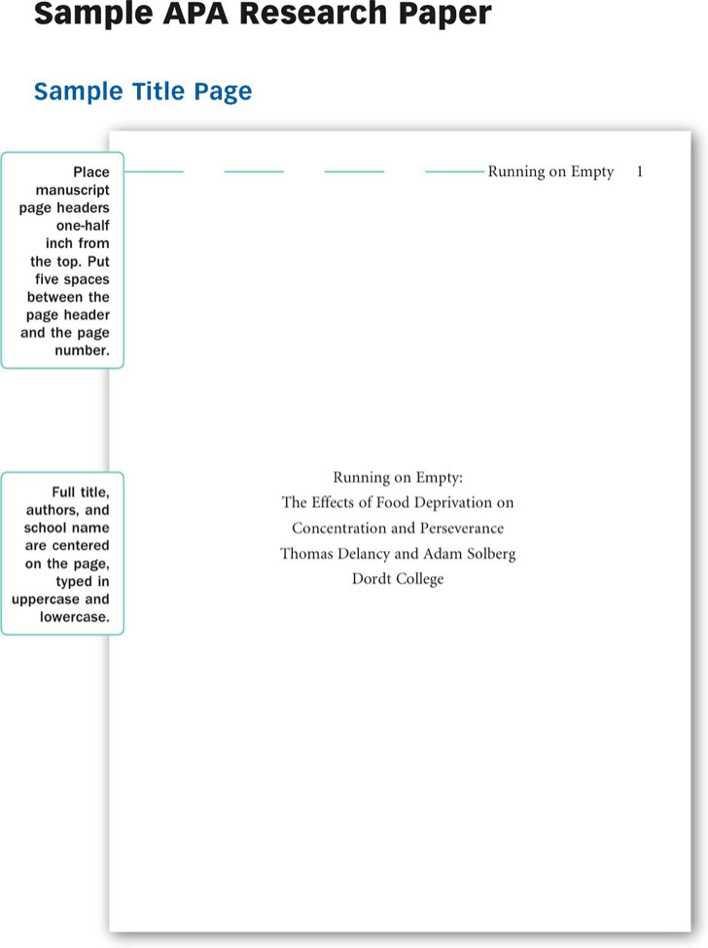 sample apa paper 1