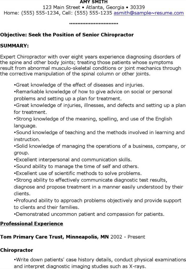 Chiropractic Resume] Chiropractor Resume Samples Visualcv Resume