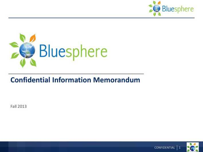 Sample Confidential Information Memorandum Template 2   Download ...