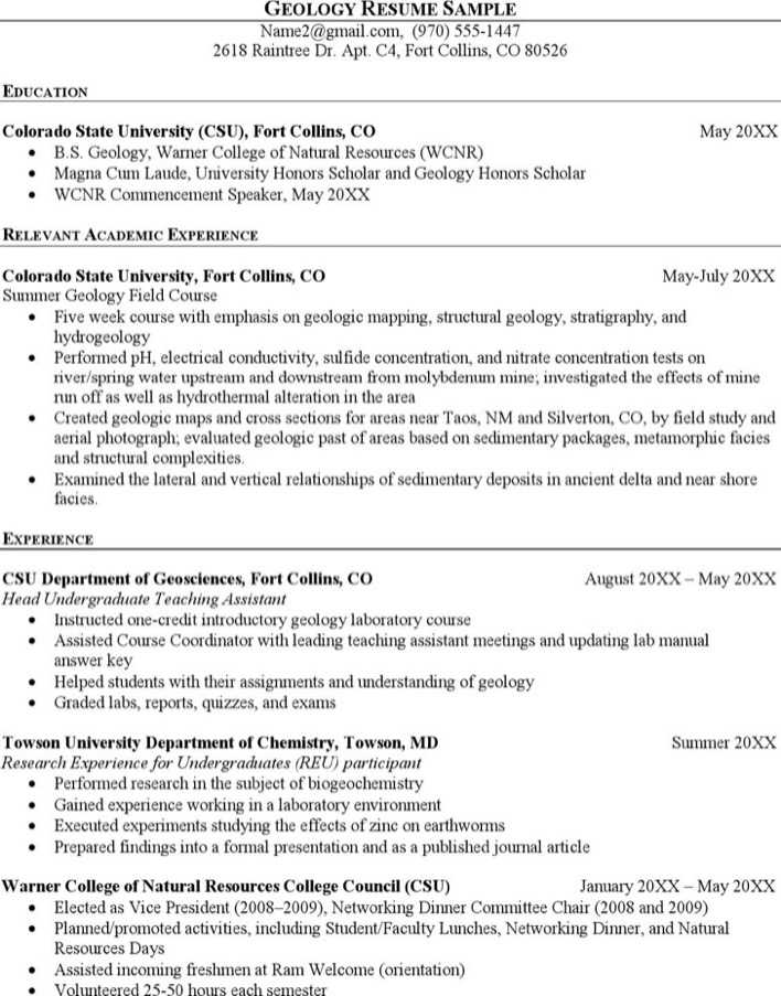 stunning wellsite geologist resume photos simple resume office - Geologist Cover Letter