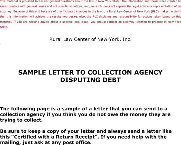 sample letter to collection agency disputing debt download free premium templates forms. Black Bedroom Furniture Sets. Home Design Ideas