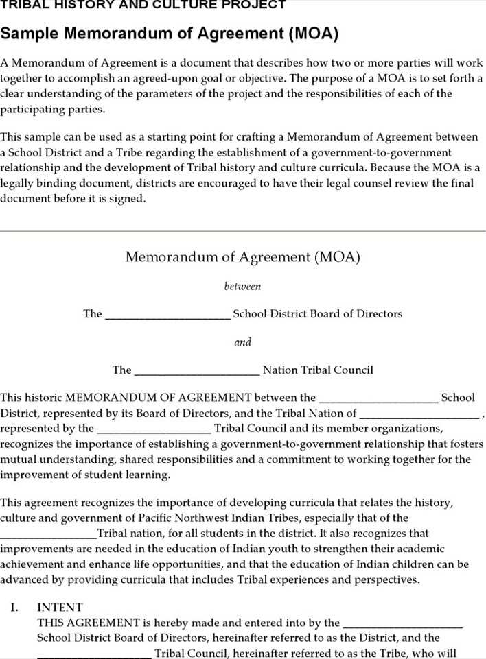 Sample Memorandum Of Agreement  Download Free  Premium Templates