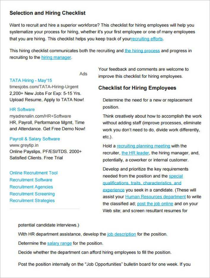 resume screening tools a resume screening checklist for