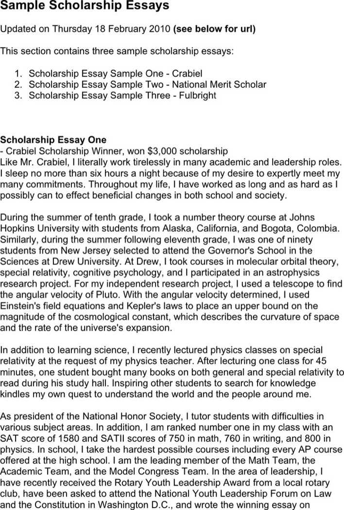 essay for scholorship Essay feedback: creating your structure — by kay peterson, phd you might think that the secret of a winning scholarship essay is to write about a great idea but that's only half the job the best essays take a great idea and present it effectively through the structure of the essay.