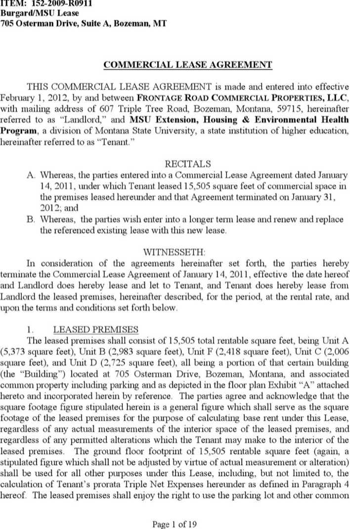 Simple Commercial Lease Agreement Download Free Premium