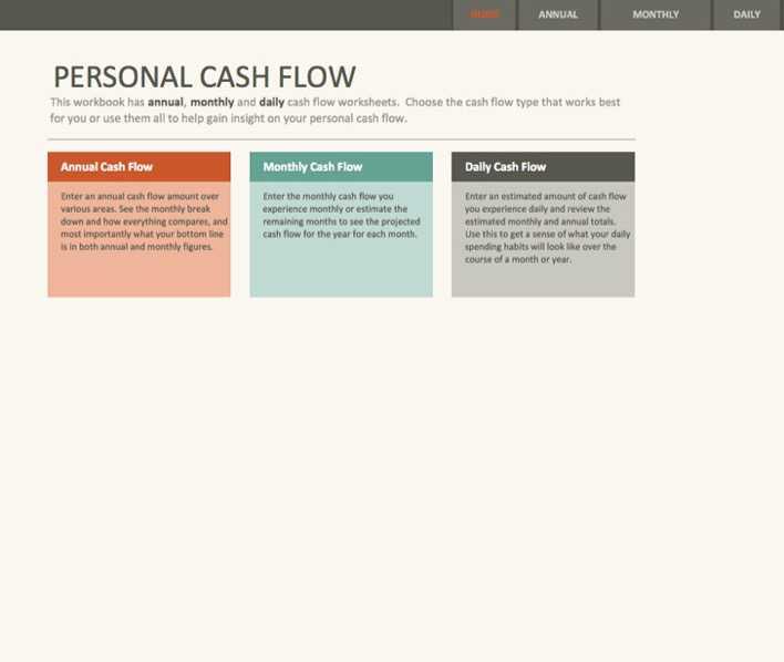simple personal cash flow statement download free premium