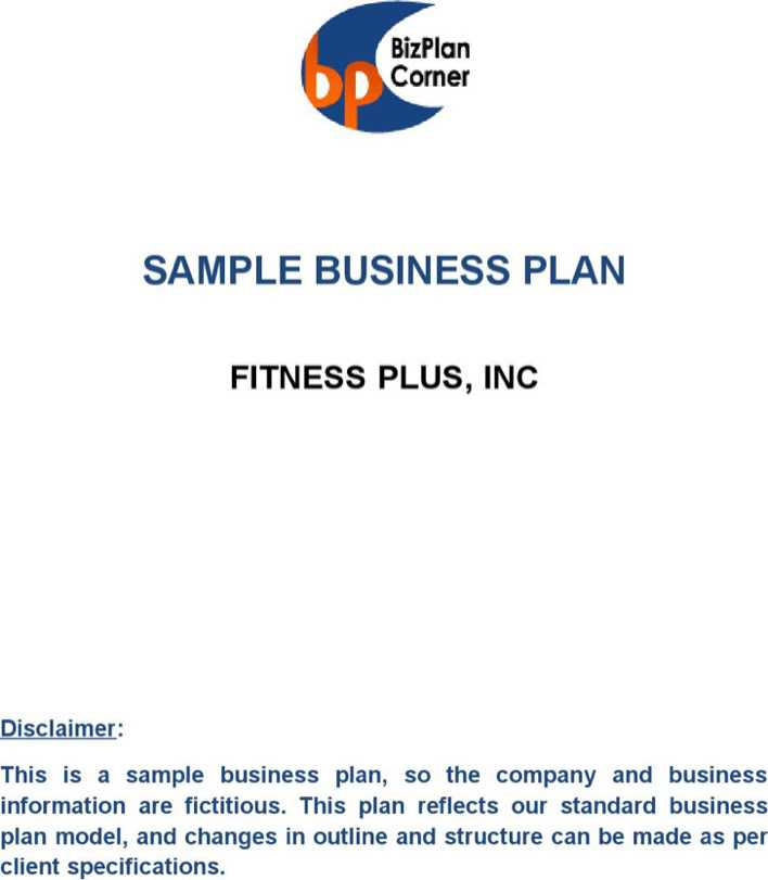 business plan business health club Fitness world business plan feasibility study ashley sides erin moore as a health club facility, will have the basic insurance minimum recommended for our.