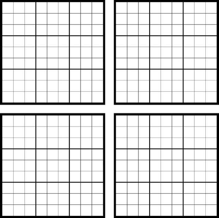 It's just an image of Smart Blank Sudoku Grid Printable
