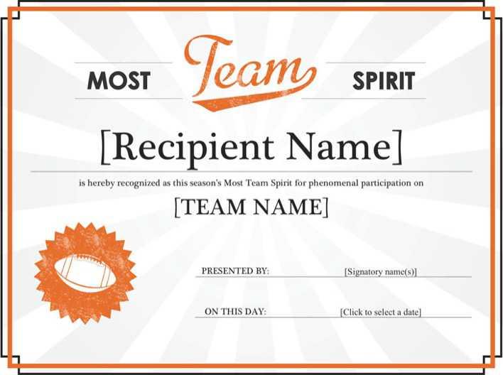 team certificate template - team spirit award certificate download free premium