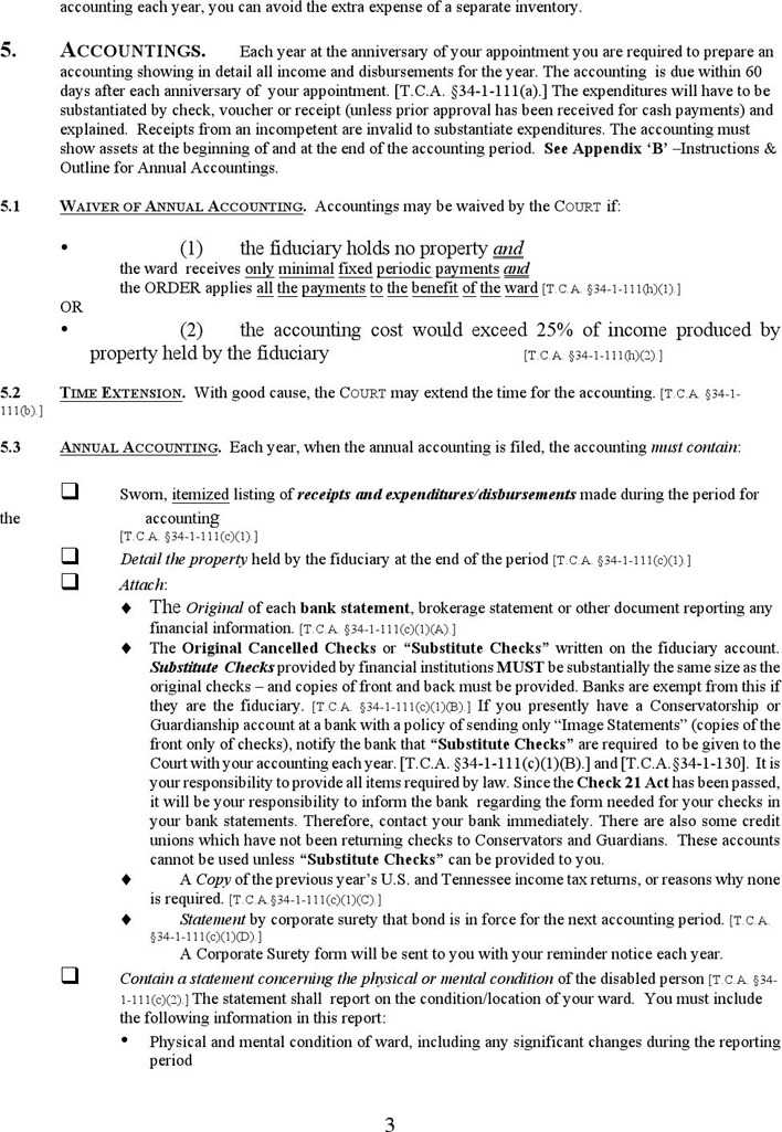 Tennessee Guardianship Form