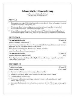 traditional elegance resume template page 1