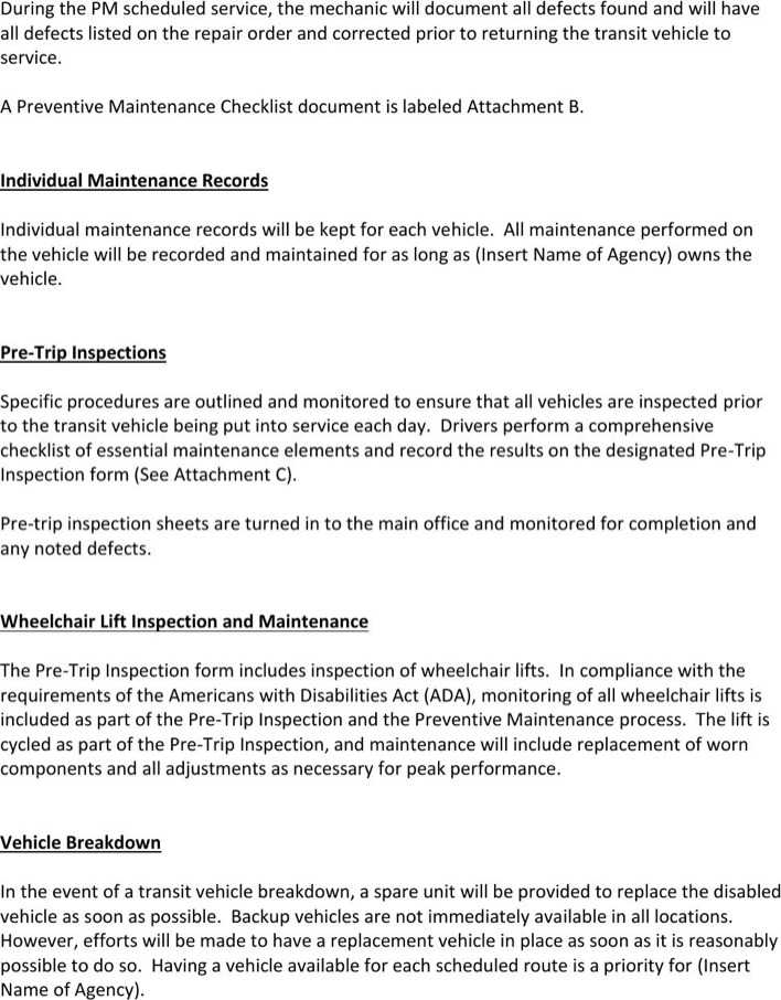 Vehicle Maintenance Program Schedule Template Download   Download ...