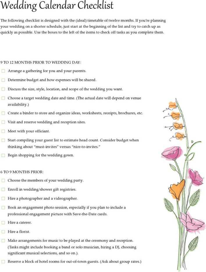 wedding checklist download free premium templates forms