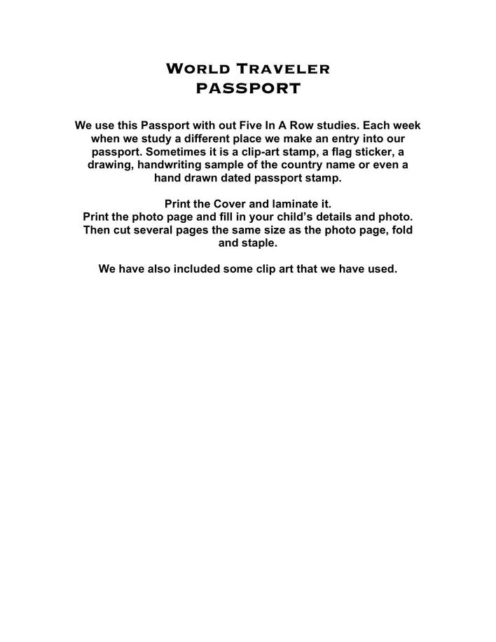 World Traveler Passport Template  Download Free  Premium