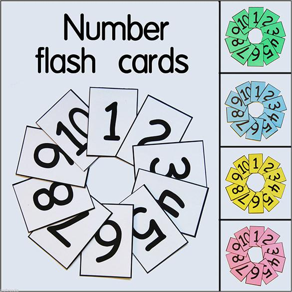 1-10 Educational Homeschool Flash Card Template