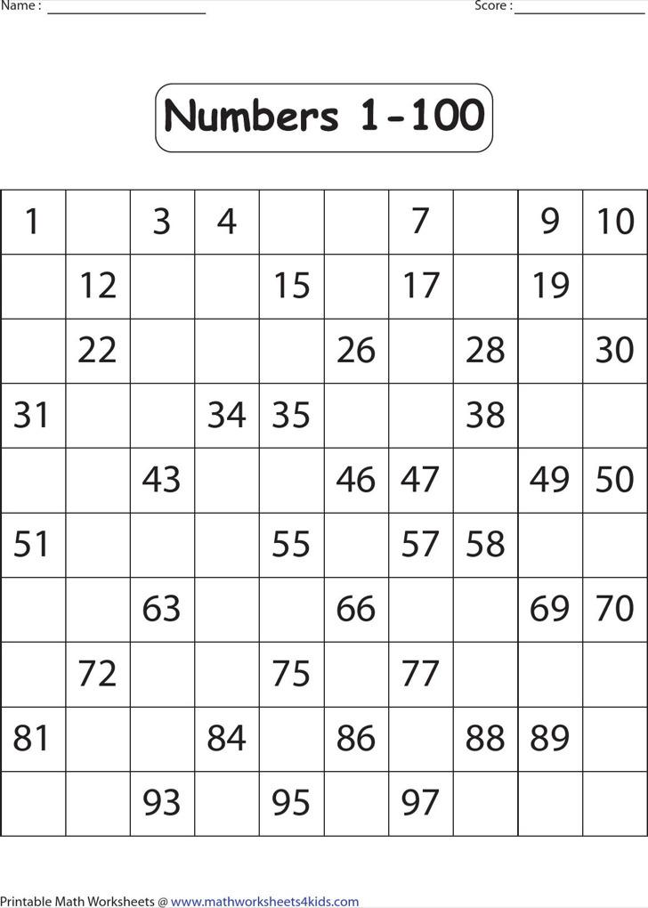 Sample Missing Numbers Worksheet Templates – Worksheet Templates for Word