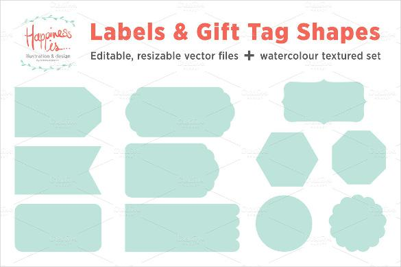 12 Gift Tags And Label Shape Template Printable
