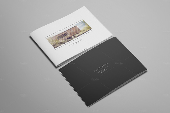 12 pages Interior Design Brochure