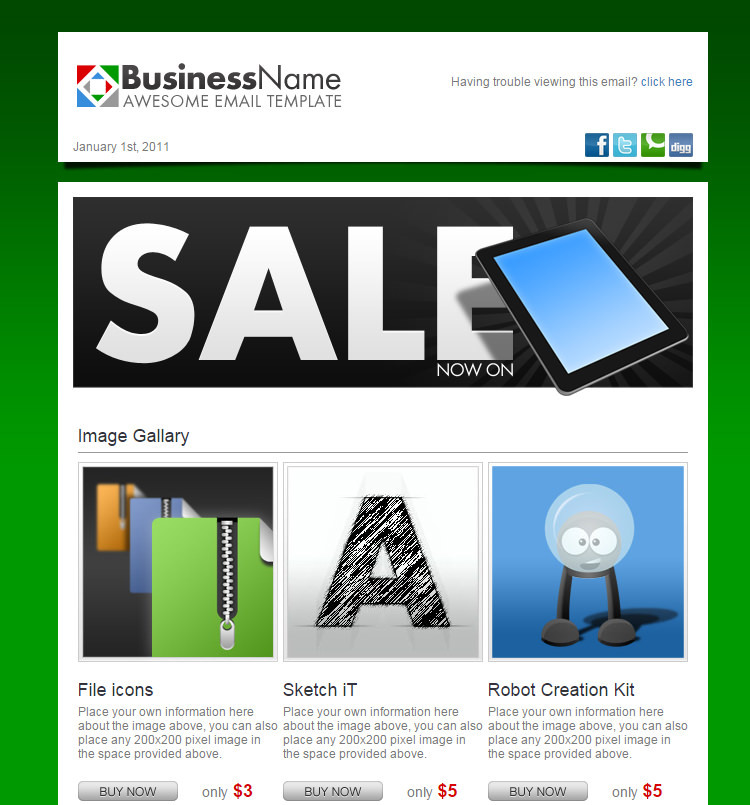 simple html email templates download free premium templates forms samples for jpeg png. Black Bedroom Furniture Sets. Home Design Ideas