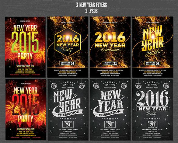 17 Christmas & New Year Flyer Template PSD Download