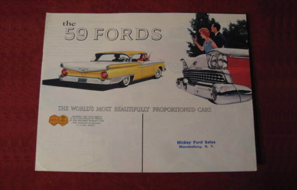 1959 Ford Car line Showroom Brochure