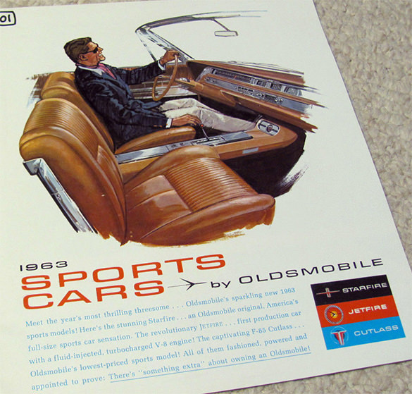 1963 Old Mobile Sports Car Brochure