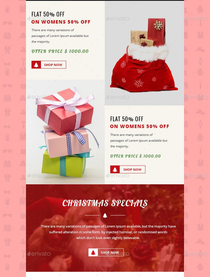 2 Chryst Christmas E-commerce Newsletter Template PSD