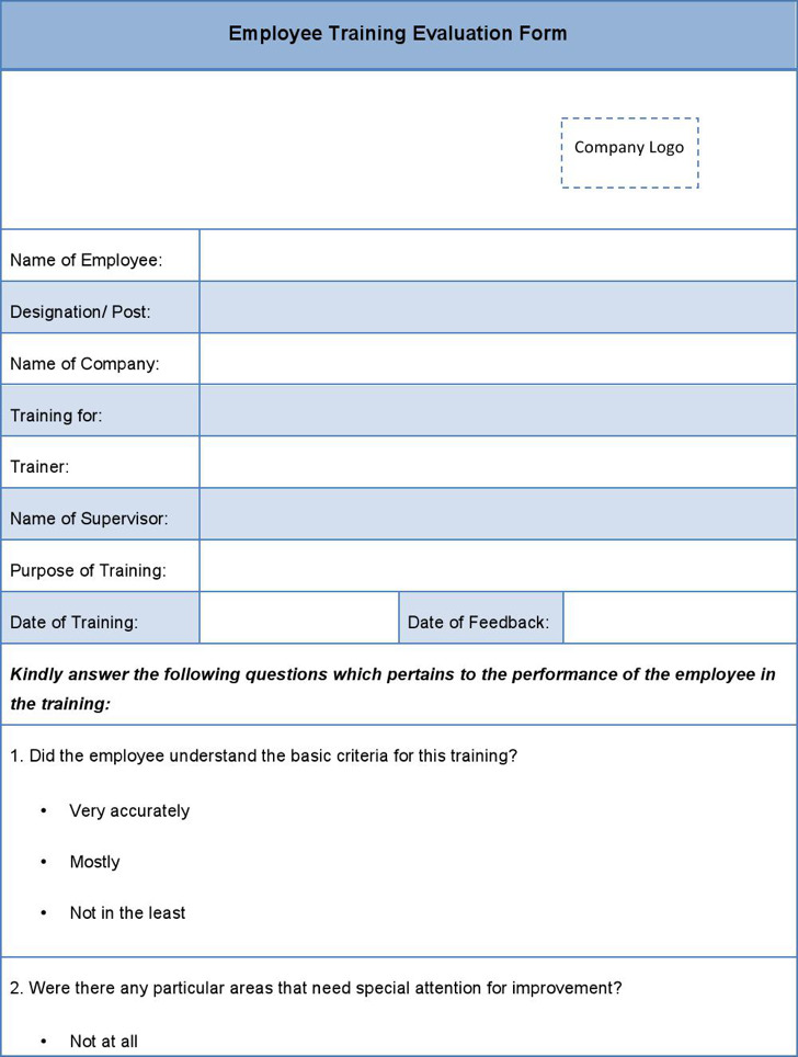 Sample HR Evaluation Forms Examples – Sample Hr Form
